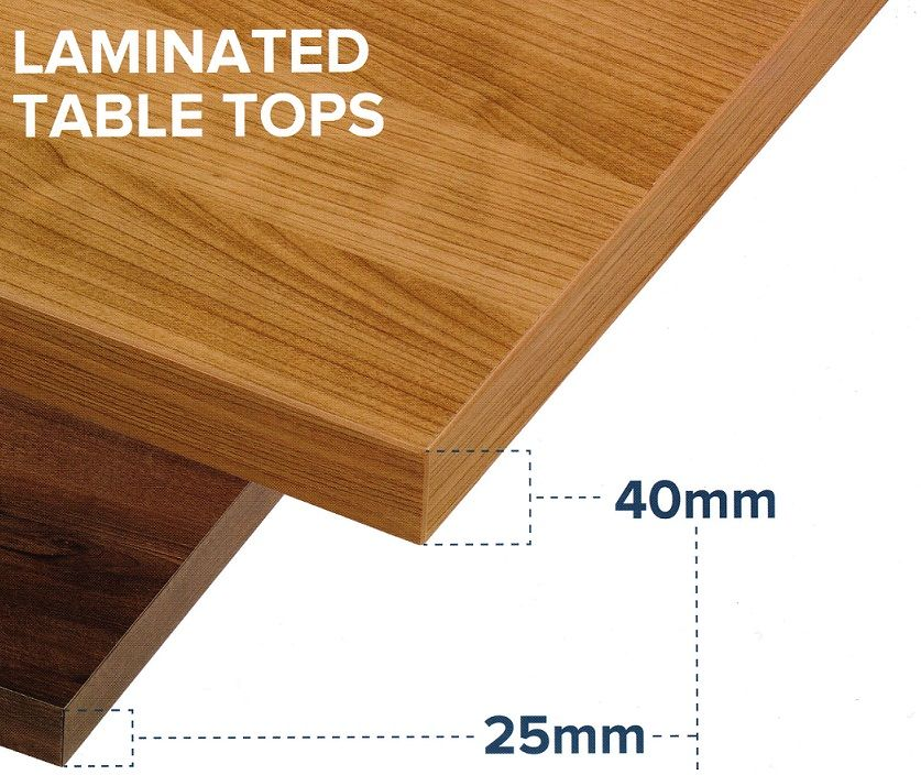 1000mm X 600mm Square 40mm Contract Laminate Table Top   MADE TO ORDER